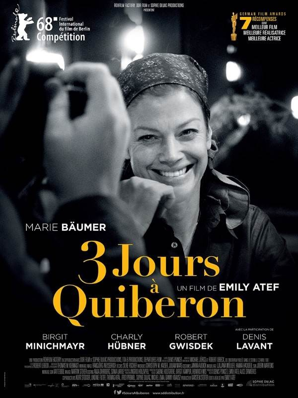 3 jours à Quiberon, Affiche