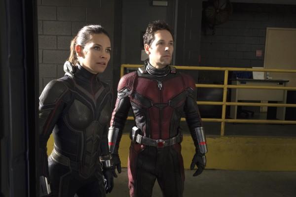 Evangeline Lilly (Hope Van Dyne / La Guêpe), Paul Rudd (Scott Lang / Ant-Man)