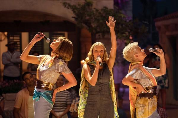 Christine Baranski (Tonya), Amanda Seyfried (Sophie), Julie Walters (Rosie)