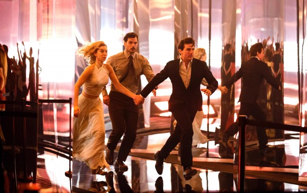 Vanessa Kirby (White Widow), Henry Cavill (August Walker), Tom Cruise (Ethan Hunt)