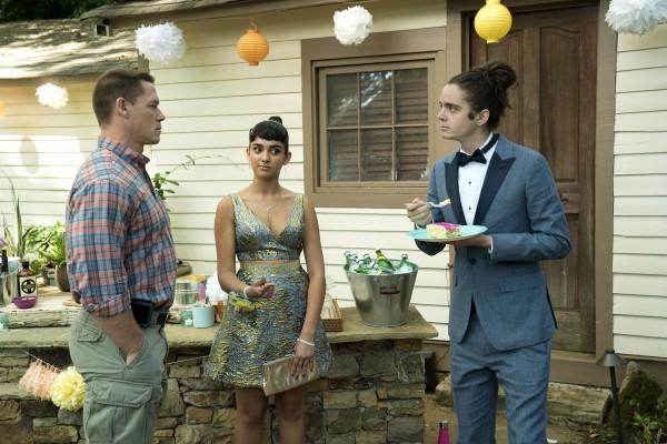John Cena (Mitchell), Geraldine Viswanathan (Kayla), Miles Robbins (Connor)