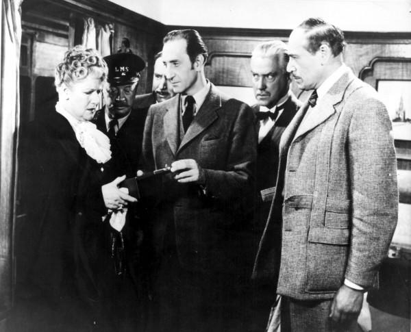 Mary Forbes (Lady Margaret Carstairs), Basil Rathbone, Nigel Bruce, Dennis Hoey