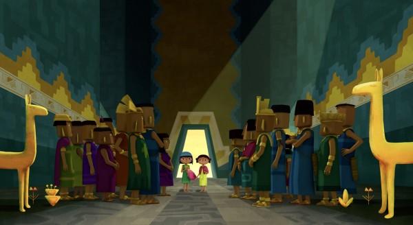 Tepulpaï, Naïra arrivent au Temple du Soleil du Grand Inca