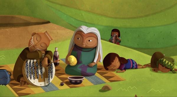 Walumama avec la Pachamama à la main
