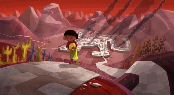 Naïra revient avec la Pachamama, au fond Cuzco