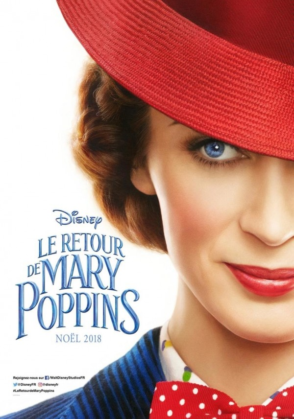 Le Retour de Mary Poppins, affiche teaser