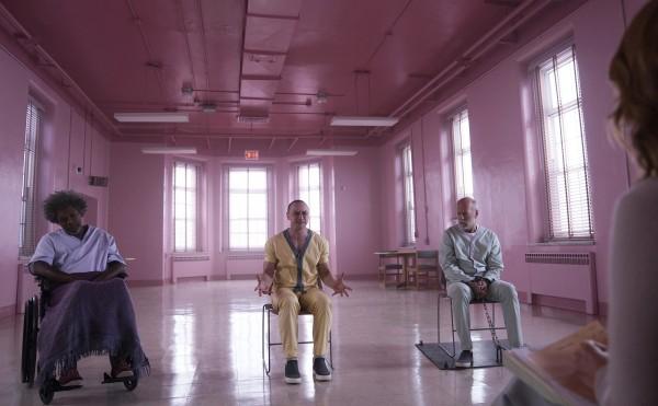 Samuel L Jackson, James McAvoy, Bruce Willis
