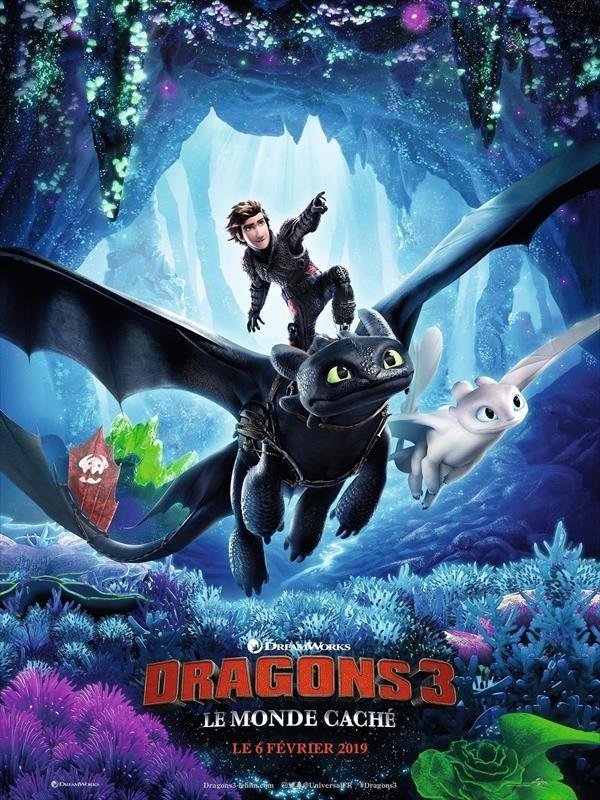 Dragons 3 : Le Monde caché, affiche