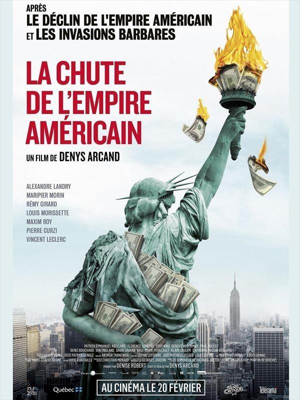 La Chute de l'empire américain, affiche