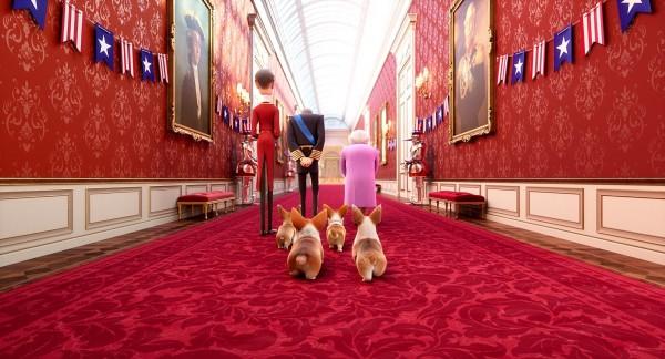 Personnage, le Prince Philip, la Reine d'Angleterre, les corgis