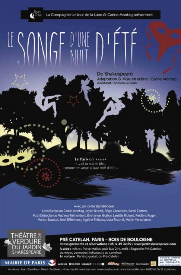 Le Songe d'une nuit d'été au Théâtre de Verdure du Jardin Shakespeare