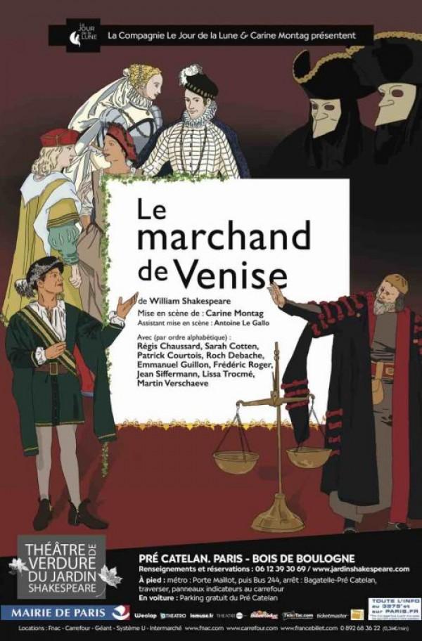Le Marchand de Venise au Théâtre de verdure du Jardin Shakespeare