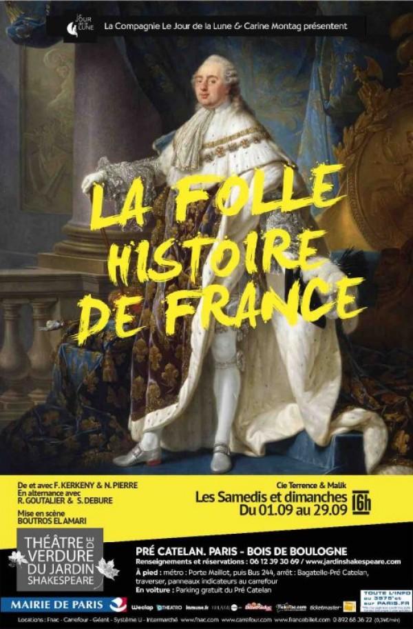 La Folle histoire de France au Théâtre de verdure du Jardin Shakespeare