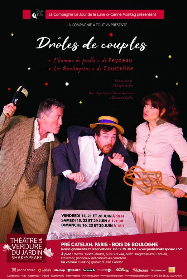 Drôles de couples au Théâtre de verdure du Jardin Shakespeare