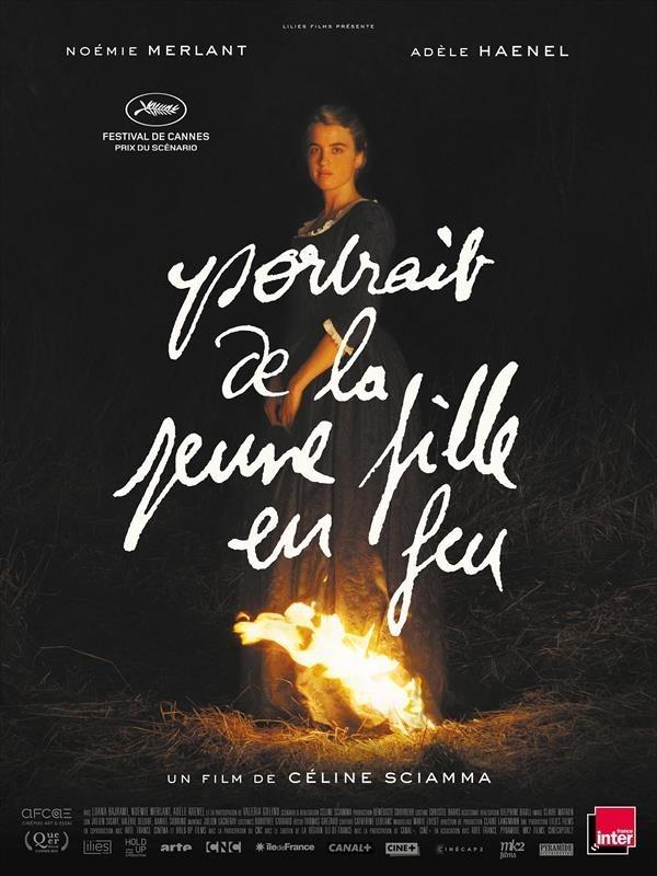Portrait de la jeune fille en feu, affiche