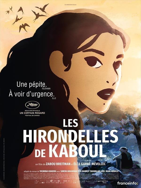 Les Hirondelles de Kaboul, affiche