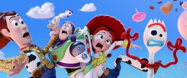 Woody, Buzz l'Eclair, Jessie, Forky-Bonnie