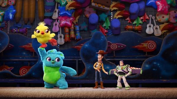 Ducky, Bunny, Woody, Buzz l'Eclair