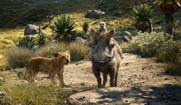Simba jeune, Timon, Pumbaa