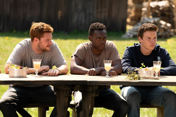 Jack Reynor (Christian), William Jackson Harper (Mark), Will Poulter (Josh)