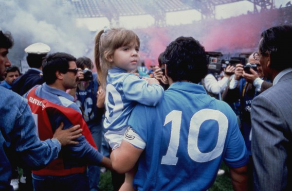Diego Maradona avec sa fille