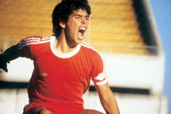Diego Maradona, leader de l'équipe Argentinos Juniors