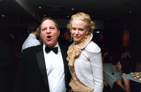 """Harvey Weinstein et Nicole Kidman à la Première du film """"Retour à Cold Mountain"""", Londres, le 14 décembre 2003."""