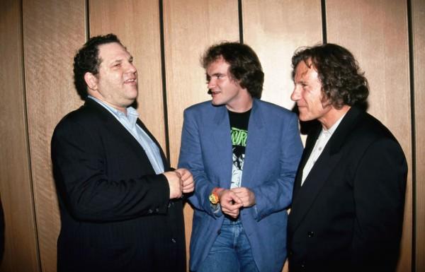 "Harvey Weinstein, Quentin Tarantino, Harvey Keitel à la Première du film ""Reservoir Dogs"", 1992"