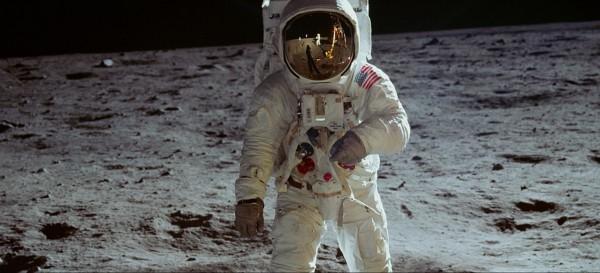Premiers pas sur la Lune de Buzz Aldrin le 21 juillet 1969 lors de la mission Apollo 11