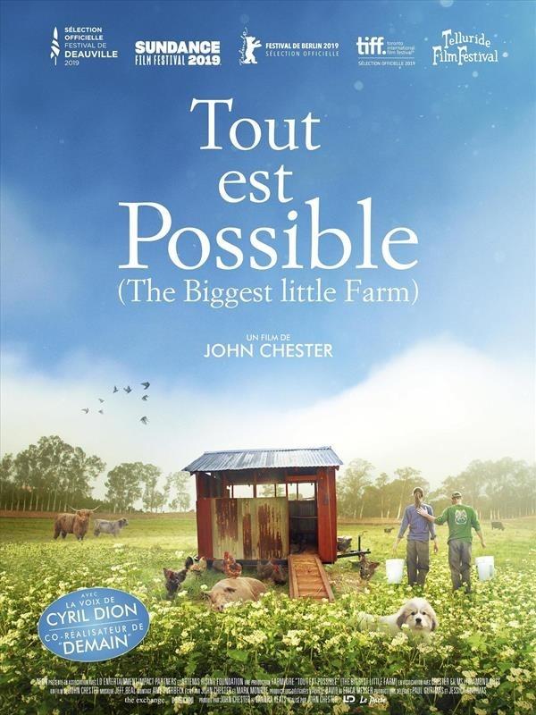 Tout est possible (The Biggest Little Farm), affiche