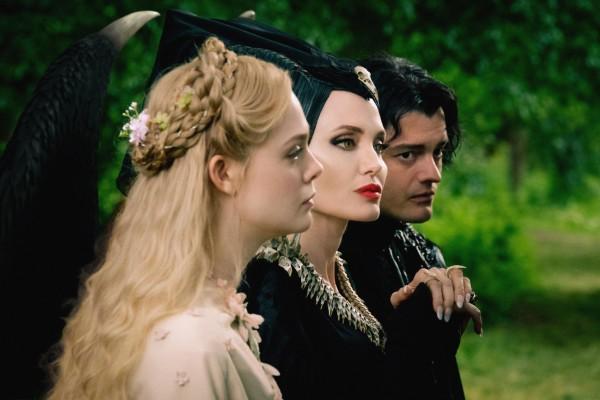 Elle Fanning, Angelina Jolie, Sam Riley