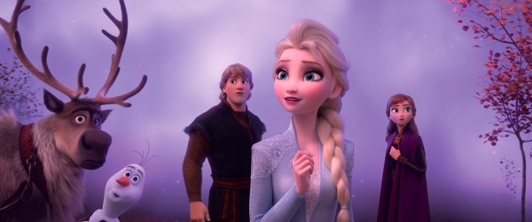 Sven, Olaf, Kristoff, Elsa, Anna