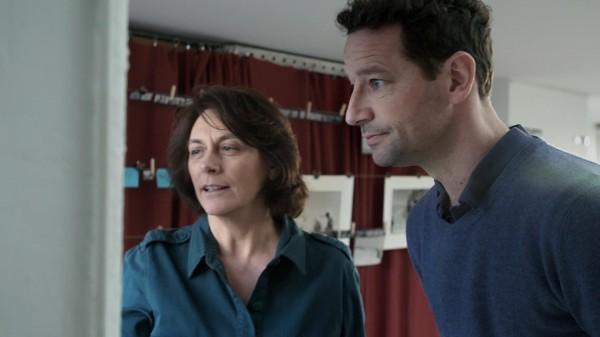 La réalisatrice Mariana Otero et Vincent Lemire, directeur du Centre de recherche français à Jérusalem.