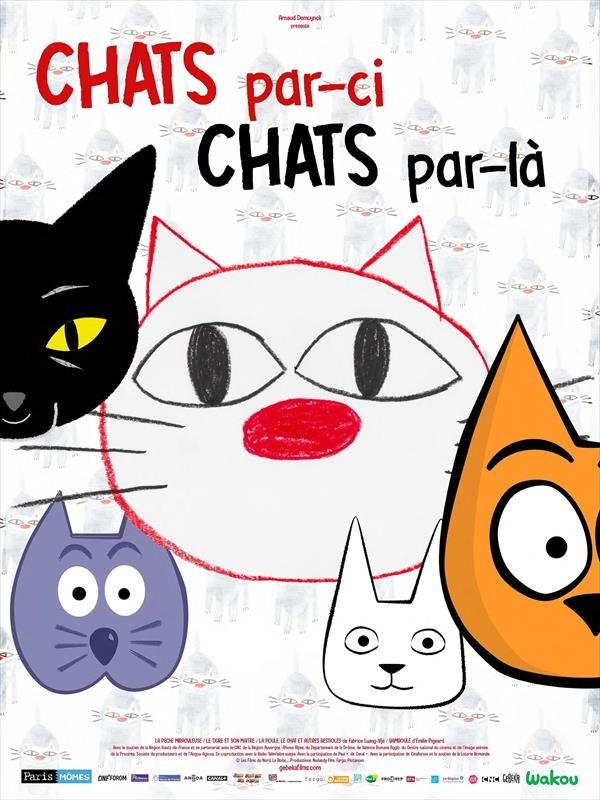 Chats par-ci, chats par-là, affiche
