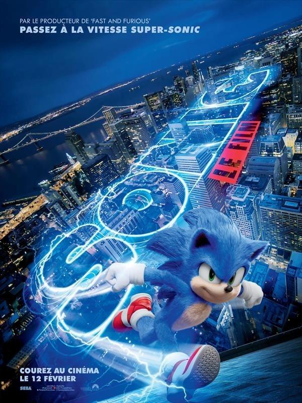 Sonic, le film, affiche