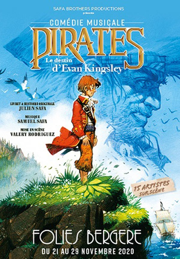 Pirates : Le Destin d'Evan Kingsley aux Folies Bergère - Affiche
