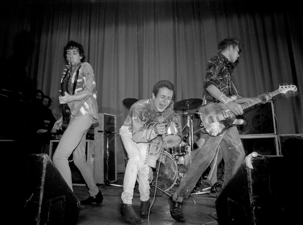The Clash à l'ICA de Londres, en novembre 1976