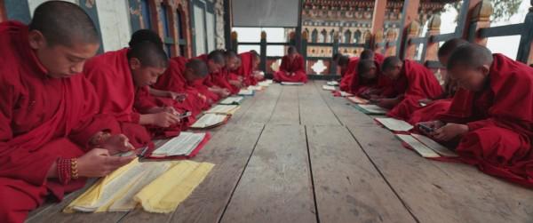 Jeunes moines bhoutanais