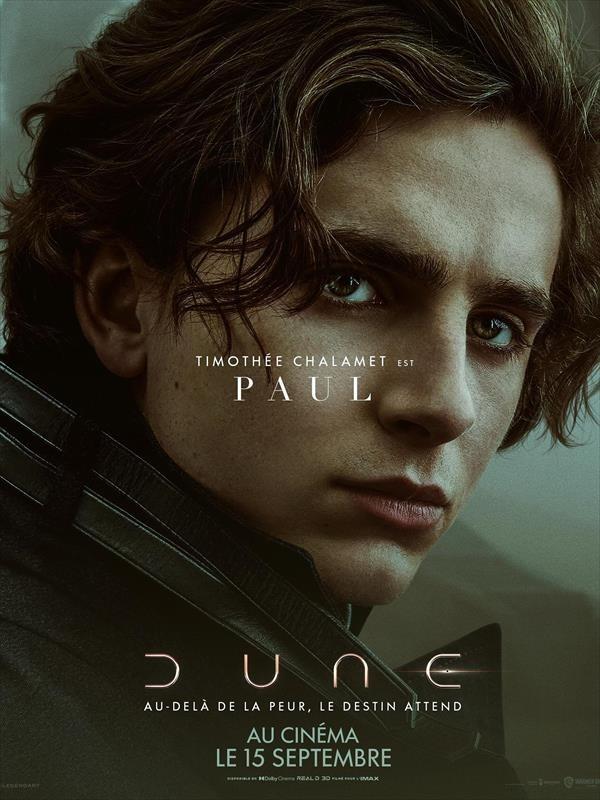 Dune, Affiche Timothée Chalamet