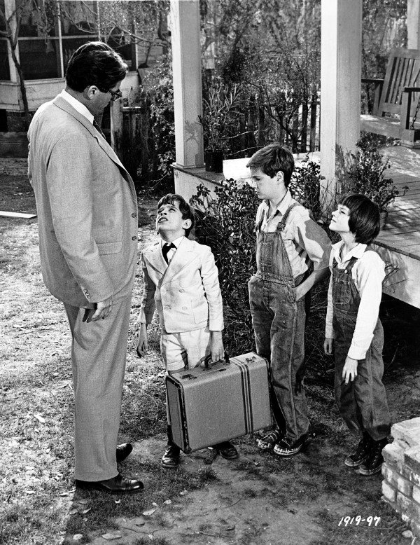 Gregory Peck, John Megna, Phillip Alford, Mary Badham