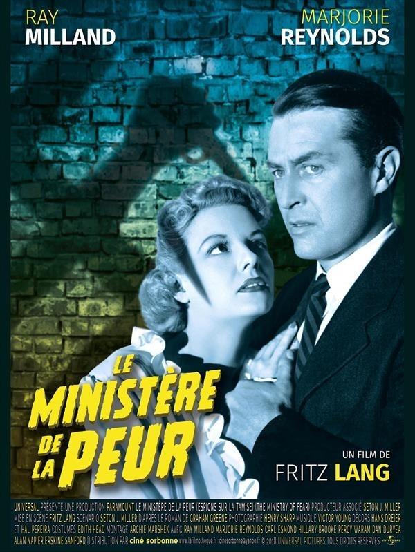 Espions sur la Tamise / Le Ministère de la Peur,  Affiche version restaurée