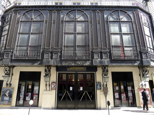 Théâtre des Bouffes Parisiens : vue de l'extérieur