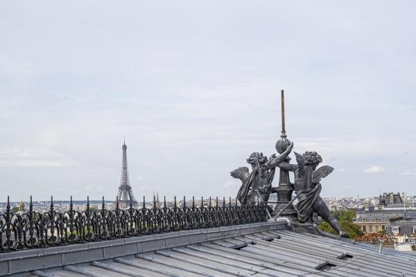 Théâtre du Châtelet - Sur le toit (vue Tour Eiffel)