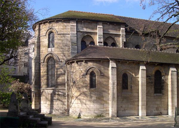 Extérieur de l'église Saint-Julien-le-Pauvre