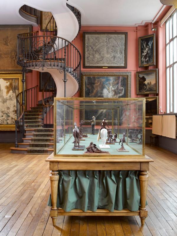Vue du 2ème étage du musée Gustave Moreau, Paris.