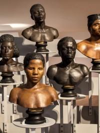 La Galerie de l'Homme - Vue de l'envolée de bustes ethnographiques - Partie 1 (détail)