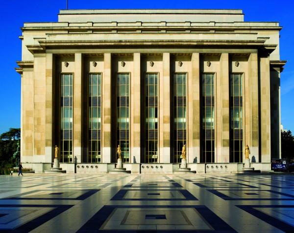 Musée de l'Homme, pavillon de tête vu du parvis des droits de l'Homme