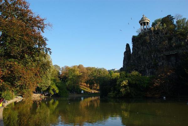 Parc des Buttes-Chaumont en automne