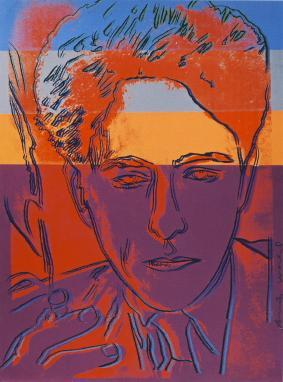 Jean Cocteau par  Andy Warhol vers 1983 Maison Jean Cocteau, depot de la Fondation Pierre Berge – Yves Saint Laurent