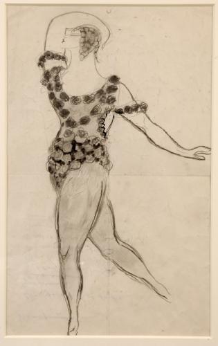 Nijinsky dans Le Spectre de la Rose - Jean Cocteau v. 1911 Coll. Stephane Dermit. Depot Maison Jean Cocteau